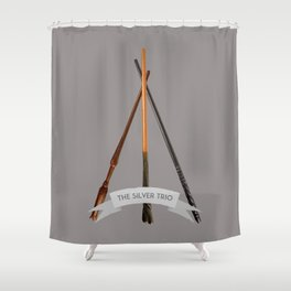 The Silver Trio Shower Curtain