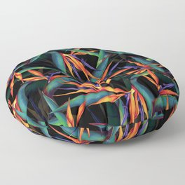 Tropical Leaf Pattern Floor Pillow