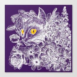 Fleur de Feline Canvas Print