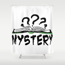 Mystery Book Shower Curtain