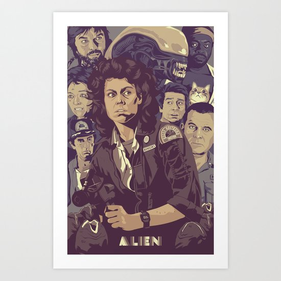 ALIEN v1 Art Print