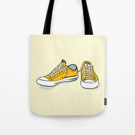 Yellow Sneakers Tote Bag