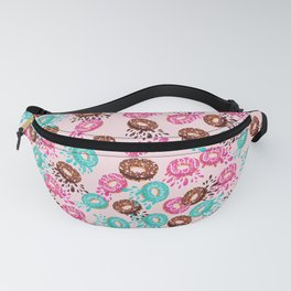 Pink Donut Pattern Doughnut Foodie Gift Fanny Pack