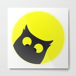 Cross Eyed OWL Metal Print