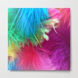 Flamboyant Feathers Metal Print