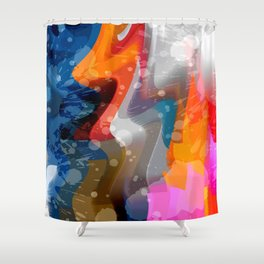Extrusion IV Shower Curtain