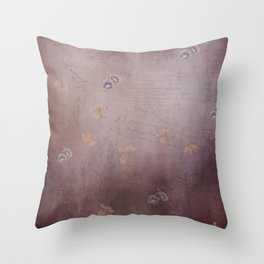 Vintage Mauve Stationery Throw Pillow