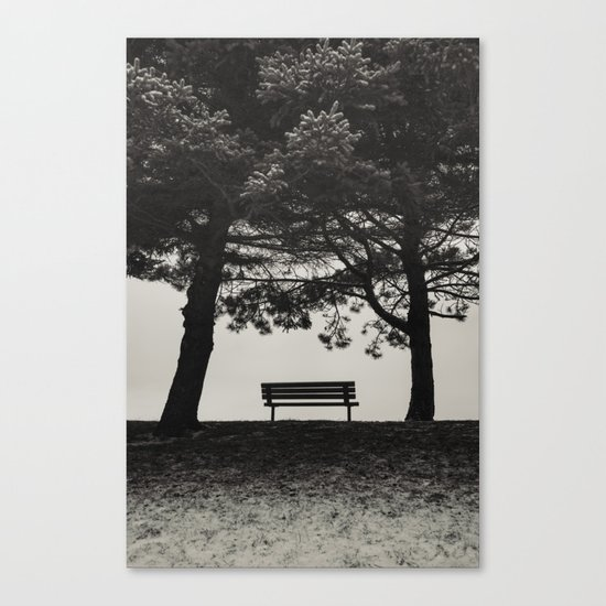 Winter's Shelter Canvas Print