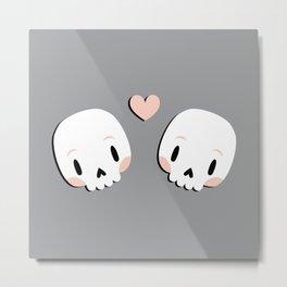 Skulls in love Metal Print