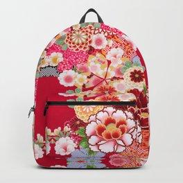Red Floral Burst Backpack