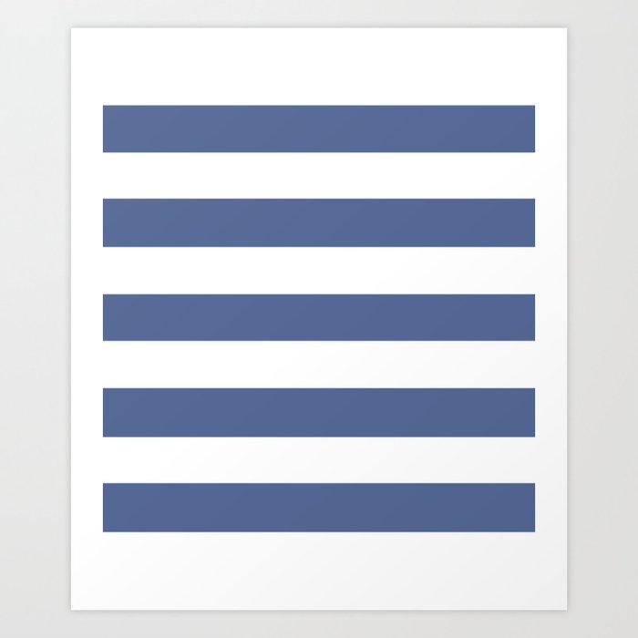UCLA blue - solid color - white stripes pattern Kunstdrucke