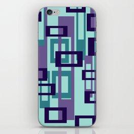 Geometric rectangles pattern violet iPhone Skin