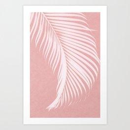 Palm Leaves on Pink I Art Print