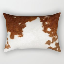 brown cowhide watercolor Rectangular Pillow