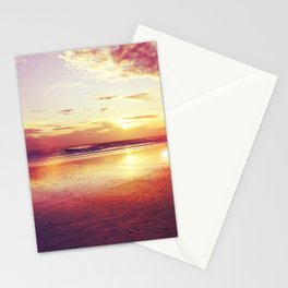 Tropical sunset on a calm beach Stationery Cards