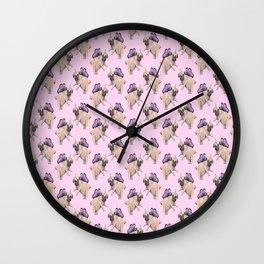 Pug Unicorn Squad Wall Clock