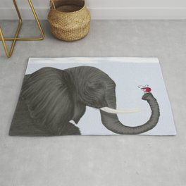 Bertha The Elephant And Her Visitor Rug