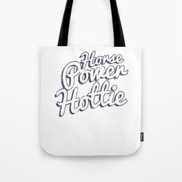 Horsepower Hottie Fast Powerful Hot Rods Tote Bag