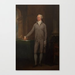 Alexander Hamilton Full-Length Portrait Canvas Print