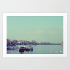 Upon Putney Bridge Art Print
