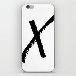 Letter X Ink Monogram iPhone Skin