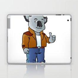 funny koala cartoon Laptop & iPad Skin