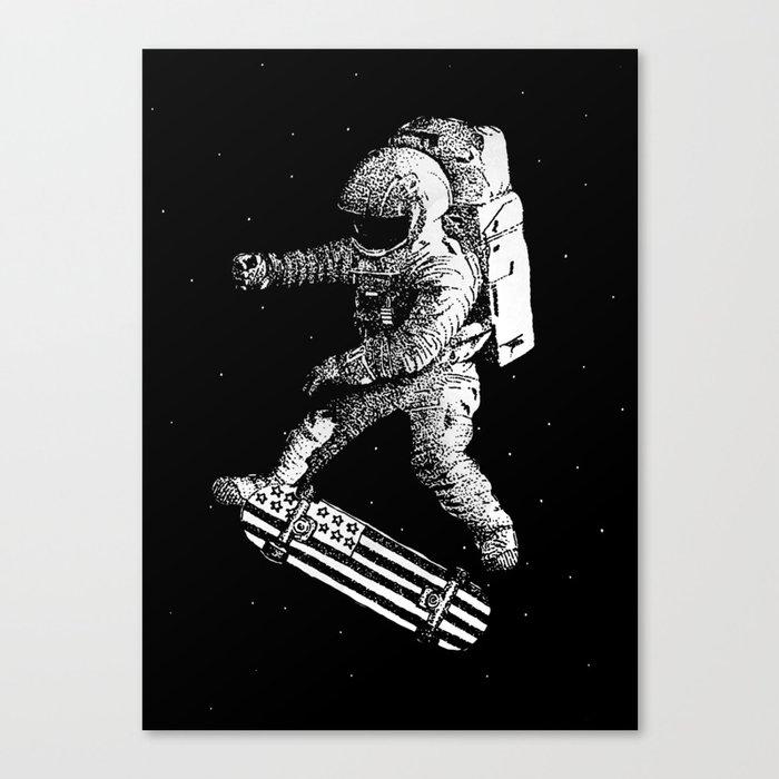 Kickflip in space Canvas Print