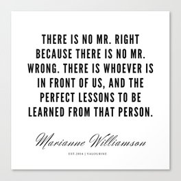 59  |  Marianne Williamson Quotes | 190812 Canvas Print
