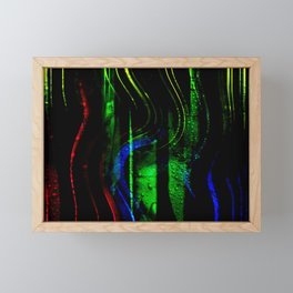 Concept abstract : Warm colors in Winter Framed Mini Art Print