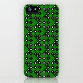 Kingdom Hearts III - Pattern - Green iPhone Case