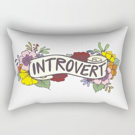 Floral Introvert Banner Rectangular Pillow
