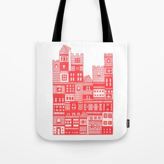 Tangerine Castle Tote Bag