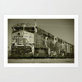 BNSF Freight  Art Print