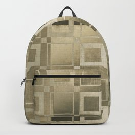 Muted Gold Squares Backpack