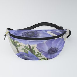 Pretty Periwinkle Poppies Fanny Pack
