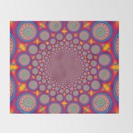 BBQSHOES: Wheels Of Time II Fractal Mandala Throw Blanket
