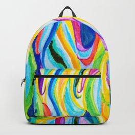 Rainbow Hair Backpack