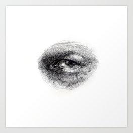 Eye Study Sketch 4 Art Print