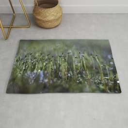 dewy moss sprouts Rug