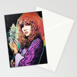 Stevie Nicks Tribute Mural: Wouldn't You Love to Love Her // Music Women Rock and Roll Fleetwood Stationery Cards