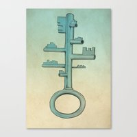 key Canvas Prints featuring Key by Mild Visualitis