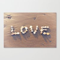 Canvas Prints featuring Love Rocks by Roger Porter