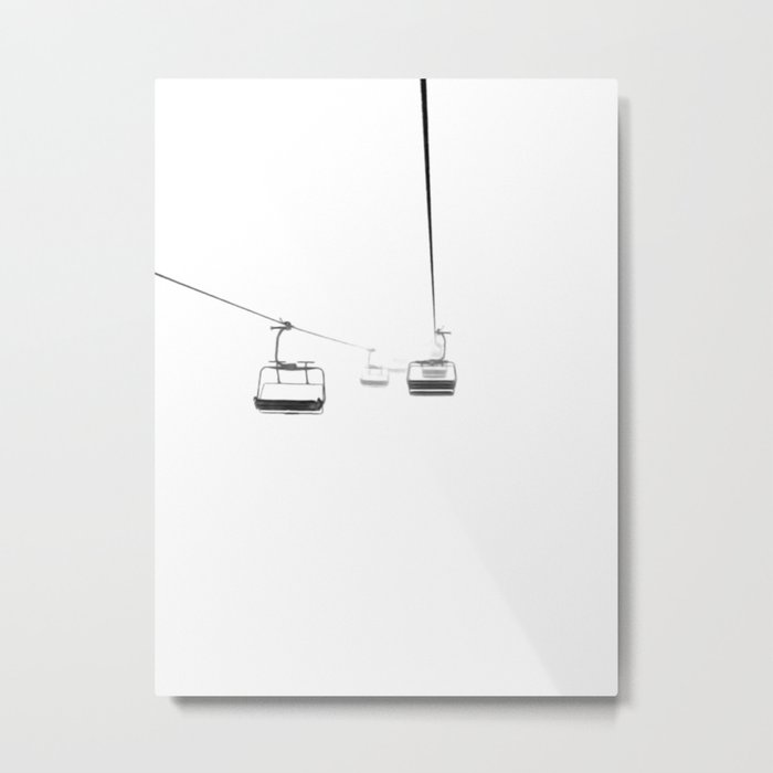Lifts from and to nowhere Metal Print