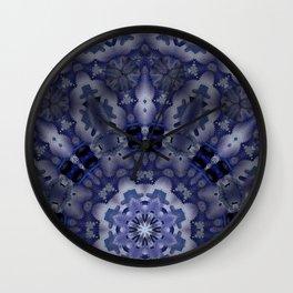 Kaleid low blue Wall Clock