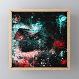 guinea pig colorful side portrait ws2s Framed Mini Art Print