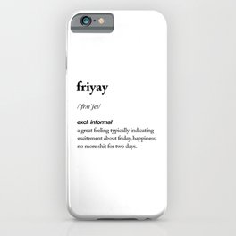Friyay black and white contemporary minimalism typography design home wall decor bedroom iPhone Case