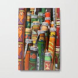 Colorful Rain Sticks Metal Print