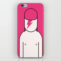 bowie iPhone & iPod Skins featuring Bowie by Ale Giorgini