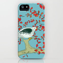 Fat Happy Bird iPhone Case