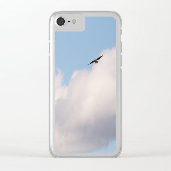 Osprey in Sky Clear iPhone Case
